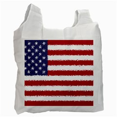 Flag Of The United States America Recycle Bag (two Side)  by paulaoliveiradesign