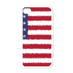 Flag Of The United States America Apple Iphone 4 Case (white) by paulaoliveiradesign