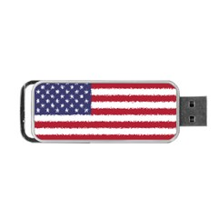Flag Of The United States America Portable Usb Flash (one Side) by paulaoliveiradesign