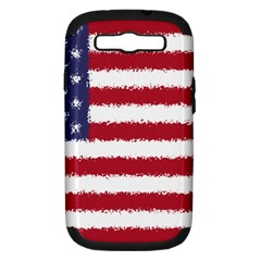 Flag Of The United States America Samsung Galaxy S Iii Hardshell Case (pc+silicone) by paulaoliveiradesign