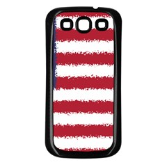 Flag Of The United States America Samsung Galaxy S3 Back Case (black) by paulaoliveiradesign