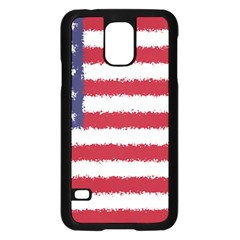 Flag Of The United States America Samsung Galaxy S5 Case (black) by paulaoliveiradesign