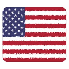 Flag Of The United States America Double Sided Flano Blanket (small)  by paulaoliveiradesign