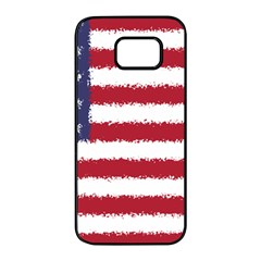 Flag Of The United States America Samsung Galaxy S7 Edge Black Seamless Case by paulaoliveiradesign