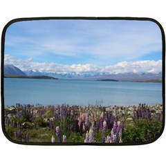 Lake Tekapo New Zealand Landscape Photography Double Sided Fleece Blanket (mini)  by paulaoliveiradesign