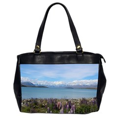 Lake Tekapo New Zealand Landscape Photography Office Handbags (2 Sides)  by paulaoliveiradesign