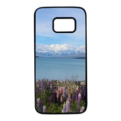 Lake Tekapo New Zealand Landscape Photography Samsung Galaxy S7 Black Seamless Case by paulaoliveiradesign