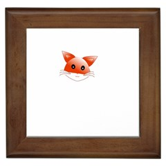 Animal Image Fox Framed Tiles by BangZart