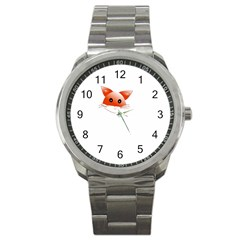Animal Image Fox Sport Metal Watch by BangZart