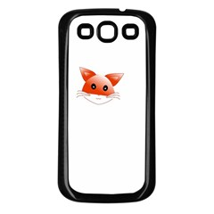Animal Image Fox Samsung Galaxy S3 Back Case (black) by BangZart