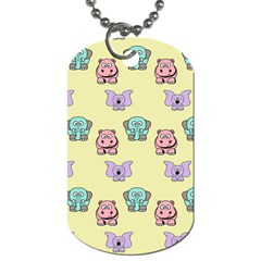 Animals Pastel Children Colorful Dog Tag (two Sides) by BangZart