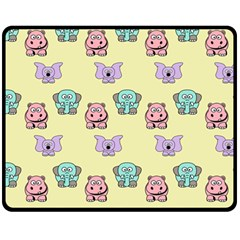 Animals Pastel Children Colorful Fleece Blanket (medium)  by BangZart