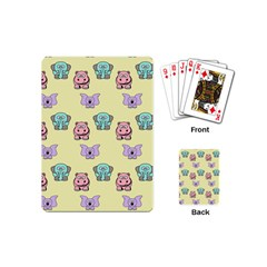 Animals Pastel Children Colorful Playing Cards (mini)  by BangZart