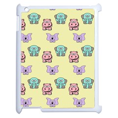 Animals Pastel Children Colorful Apple Ipad 2 Case (white) by BangZart