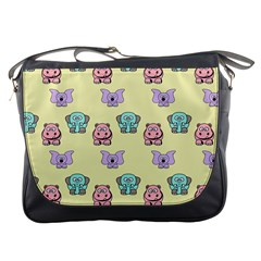 Animals Pastel Children Colorful Messenger Bags
