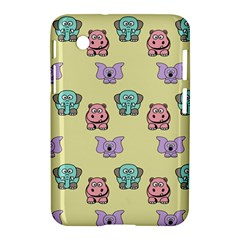 Animals Pastel Children Colorful Samsung Galaxy Tab 2 (7 ) P3100 Hardshell Case  by BangZart
