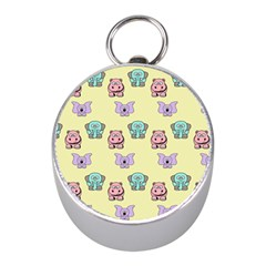 Animals Pastel Children Colorful Mini Silver Compasses by BangZart