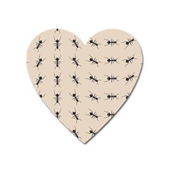 Ants Pattern Heart Magnet by BangZart