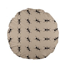 Ants Pattern Standard 15  Premium Round Cushions by BangZart