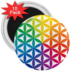 Heart Energy Medicine 3  Magnets (10 Pack)  by BangZart