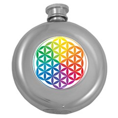 Heart Energy Medicine Round Hip Flask (5 Oz) by BangZart
