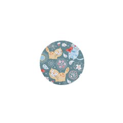 Cute Cat Background Pattern 1  Mini Magnets by BangZart