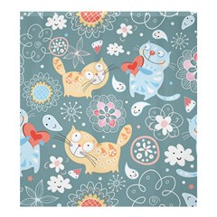Cute Cat Background Pattern Shower Curtain 66  X 72  (large)  by BangZart
