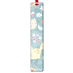 Cute Cat Background Pattern Large Book Marks by BangZart