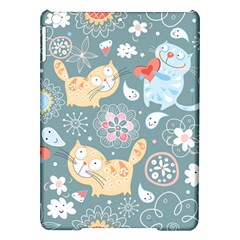 Cute Cat Background Pattern Ipad Air Hardshell Cases by BangZart