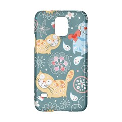 Cute Cat Background Pattern Samsung Galaxy S5 Hardshell Case  by BangZart