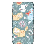 Cute Cat Background Pattern Samsung Galaxy S5 Back Case (White) Front