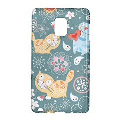 Cute Cat Background Pattern Galaxy Note Edge by BangZart