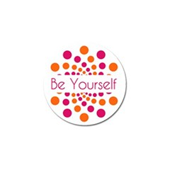 Be Yourself Pink Orange Dots Circular Golf Ball Marker (10 Pack) by BangZart