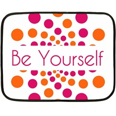Be Yourself Pink Orange Dots Circular Double Sided Fleece Blanket (mini)  by BangZart