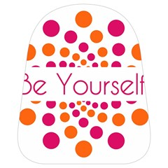 Be Yourself Pink Orange Dots Circular School Bags (small)  by BangZart