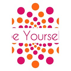 Be Yourself Pink Orange Dots Circular 5 5  X 8 5  Notebooks by BangZart