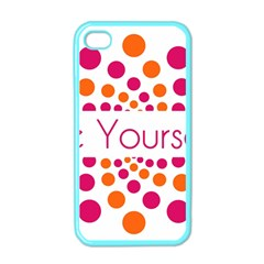 Be Yourself Pink Orange Dots Circular Apple Iphone 4 Case (color) by BangZart