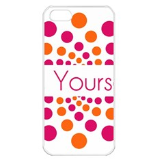 Be Yourself Pink Orange Dots Circular Apple Iphone 5 Seamless Case (white) by BangZart