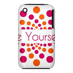 Be Yourself Pink Orange Dots Circular Iphone 3s/3gs by BangZart