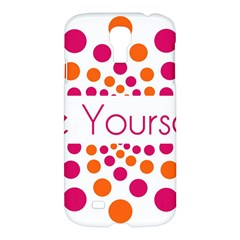 Be Yourself Pink Orange Dots Circular Samsung Galaxy S4 I9500/i9505 Hardshell Case by BangZart