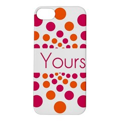 Be Yourself Pink Orange Dots Circular Apple Iphone 5s/ Se Hardshell Case by BangZart