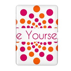Be Yourself Pink Orange Dots Circular Samsung Galaxy Tab 2 (10 1 ) P5100 Hardshell Case  by BangZart