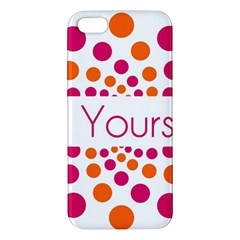 Be Yourself Pink Orange Dots Circular Iphone 5s/ Se Premium Hardshell Case by BangZart