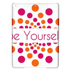 Be Yourself Pink Orange Dots Circular Ipad Air Hardshell Cases by BangZart