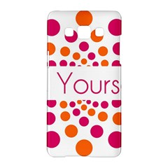 Be Yourself Pink Orange Dots Circular Samsung Galaxy A5 Hardshell Case  by BangZart