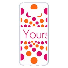 Be Yourself Pink Orange Dots Circular Samsung Galaxy S8 Plus White Seamless Case