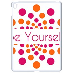 Be Yourself Pink Orange Dots Circular Apple Ipad Pro 9 7   White Seamless Case by BangZart