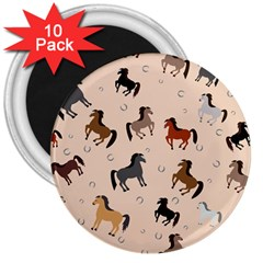Horses For Courses Pattern 3  Magnets (10 Pack)  by BangZart