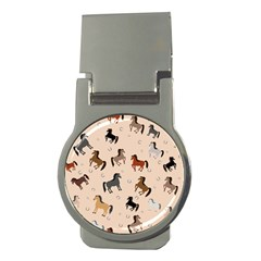 Horses For Courses Pattern Money Clips (round)