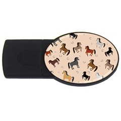 Horses For Courses Pattern Usb Flash Drive Oval (2 Gb) by BangZart